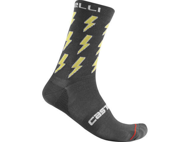 Castelli Pazzo 18 Skarpetki, dark grey/yellow